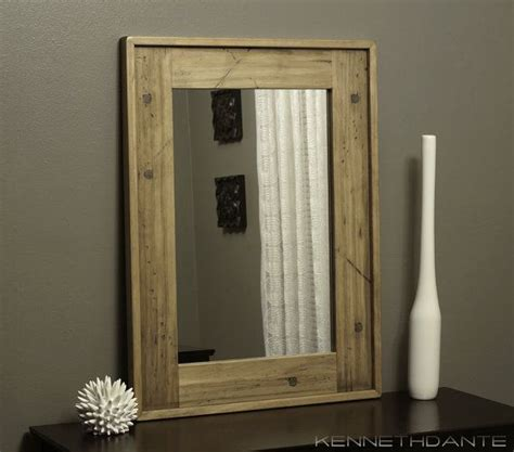 distressed wood mirror bathroom driftwood weathered