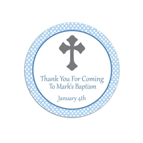 baptism thank you favor tags template free baptisms