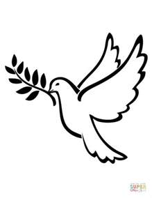 dove color peace dove coloring page free printable coloring pages