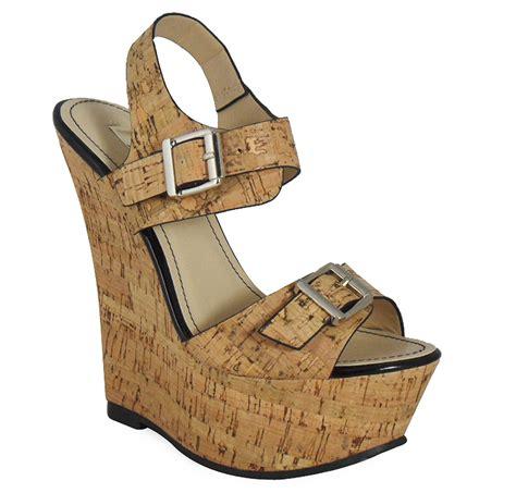 Wedges Cassico Ca 87 new womens platform buckle peeptoe high heel wedges shoes sizes 3 8 uk ebay