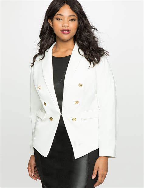 Sk 40 Black Chic Blazer 1 allman blazer s plus size coats jackets eloquii