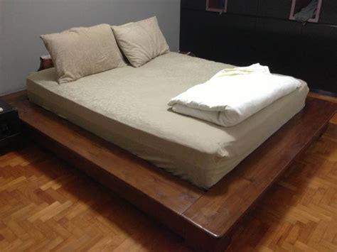 zen bed frame low platform bed frame full home design ideas