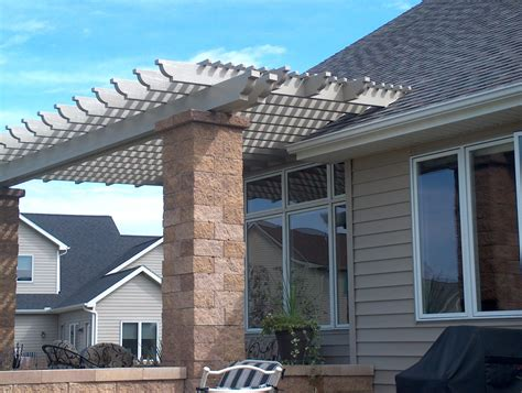 attached pergola kits attached pergola kit americana building products