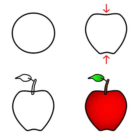 apple drawing drawing a cartoon apple