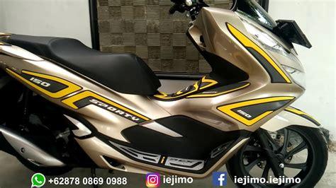 Pcx 2018 Warna Gold by Modifikasi Honda Pcx 150 Tahun 2018 Motor Gold