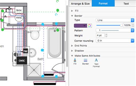 floor plan plumbing layout creating a residential plumbing plan conceptdraw helpdesk