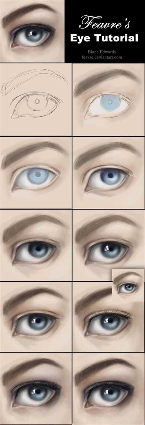 realistic eye realistic eye from how to paint realistic tutorial by feavre on