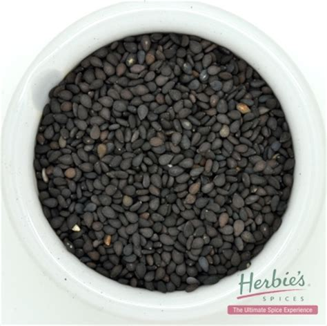 Black Sesame Seeds 100g sesame seed black whole 40g herbie s spices