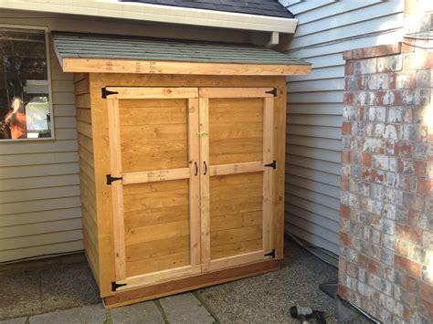 small cedar fence picket storage shed ana white