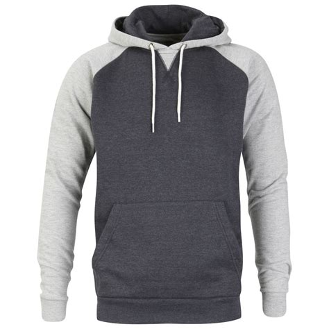 Zipper Reglan Navy Grey brave soul s seddon raglan contrast sleeve hoody navy marl light grey marl mens clothing