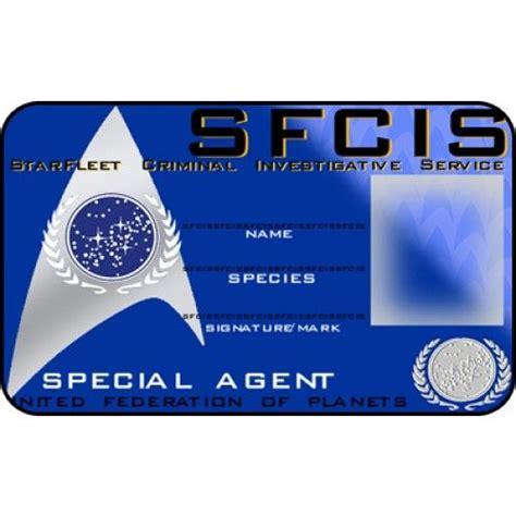 special id card template sfcis id card starfleet criminal investigative service