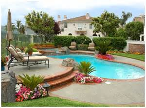 Backyard Pool Landscaping Ideas Pool Landscape Ideas On Pool Fence Pergolas And Pools