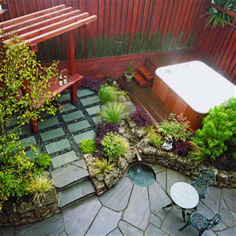 Ideas For Small Backyard Spaces Small Space Garden Patio Ideas And Designs Sunset