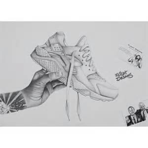 nike huarache drawing