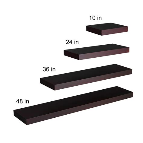 southern enterprises chicago floating shelf 36 quot espresso