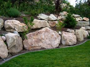 boulder retaining wall on pinterest boulder landscape