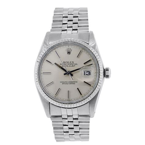 Rolex Oyster Silver rolex 16014 datejust silver oyster gents