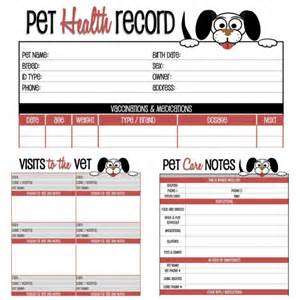 pet health record template puppy vaccination record form breeds picture