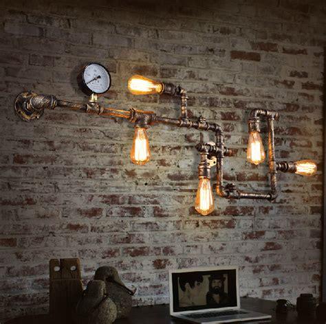 Kitchen Faucet Reviews pipe wall lamp loft industrial vintage edison bulb e27