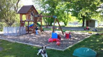 Best Backyard Playgrounds by The Outdoor Play Area For The Kids 1 Acre Fenced In Yelp