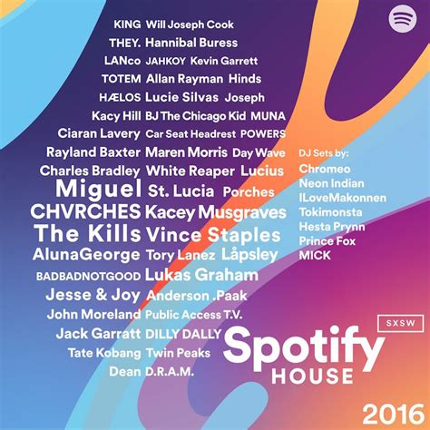 spotify house spotify house reveals their sxsw lineup and launches sxsw playlist generator run the