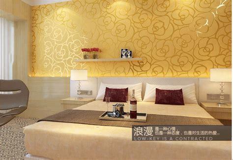 design house skyline yellow motif wallpaper classic flocking modern wallpaper wall paper bedroom room
