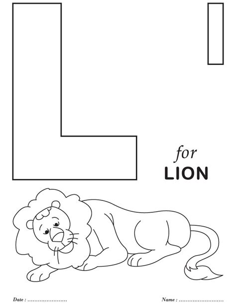 letter l coloring pages az coloring pages