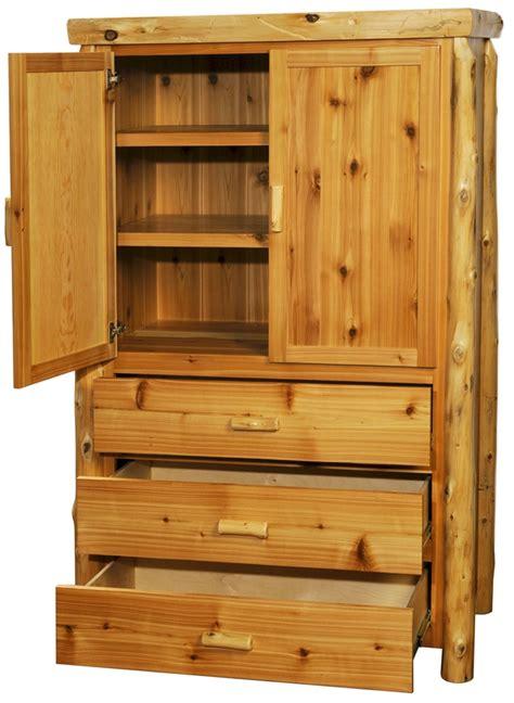 northwood s log armoire log chest cedar log bedroom