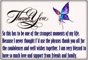 Thanks For The Comforting Words by Thank You For Your Condolences Quotes And Notes