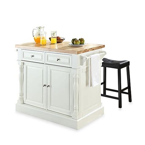 crosley butcher block top kitchen island buy crosley butcher block top kitchen island in white with