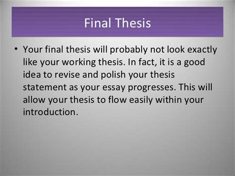 what exactly is a thesis writing a thesis statement