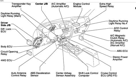 location diagram toyota 4runner a c relay location air conditioning
