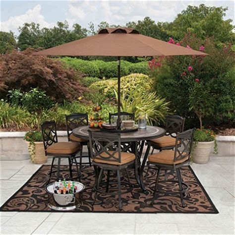 member s 174 heirloom bay slate dining set with premium