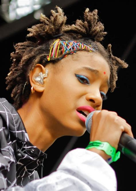 Willow Smith Hairstyle by Willow Smith Teased Brown Dread Locks Hairstyle