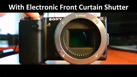 front curtain shutter sony nex 5n shutter slow motion capture by nikon v1 youtube