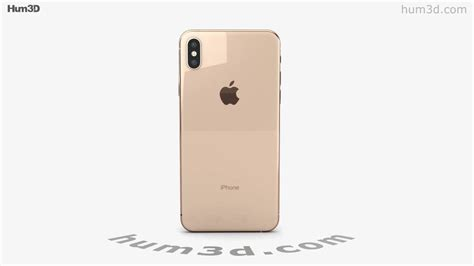 apple iphone xs max gold 3d model by hum3d