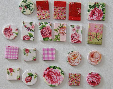 Decoupage Shapes - tutorial on how to make decoupage magnets pdf ihanna s