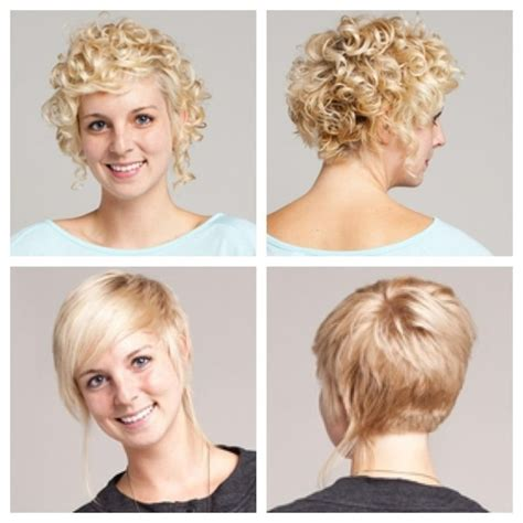 long in the front stacked in the back short curly hair stacked in back longer in front long