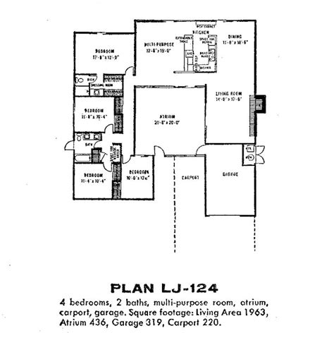 eichler home floor plans fairhaven lj 124 thumb architecture pinterest home plans floor plans and floors