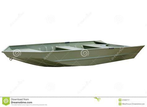 aluminium jon boot green v bottom aluminum john jon boat stock photo image