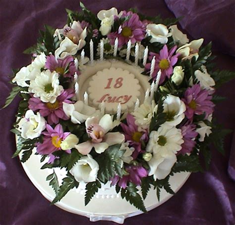 Simple Home Decoration For Birthday birthday cake with fresh flowers celebration cakes food blog