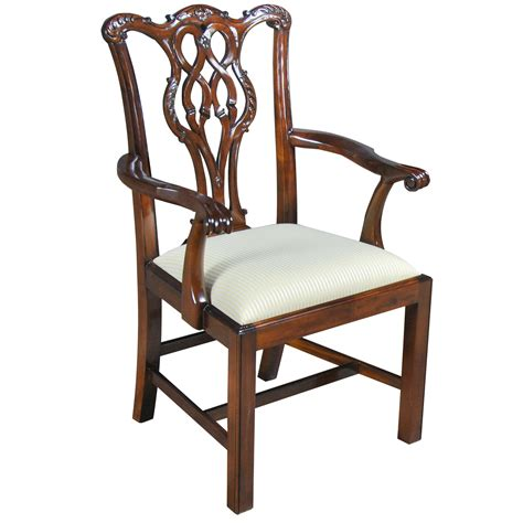 chippendale chairs home furniture dining room chairs straight leg chippendale arm chair ndrac102