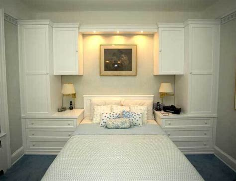 custom white built  wall unit  bed gothic