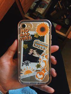 iphone  diy phone case yellow tumblr stickers