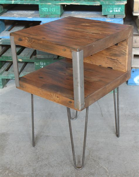 barn door side table cool side table on hairpin legs rebarn toronto