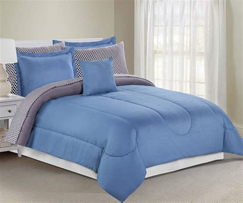 Solid Gray Comforter by Just Home Solid Gray Blue Comforter Sets Big Lots
