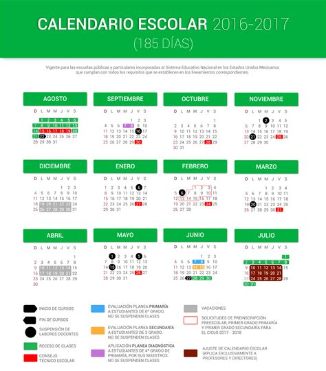 calendario para el ciclo escolar 2016 2017 sep calendario escolar 2016 2017 185 d 237 as portalsej