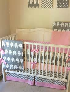 elephant crib bedding baby pink and gray elephant crib bedding by