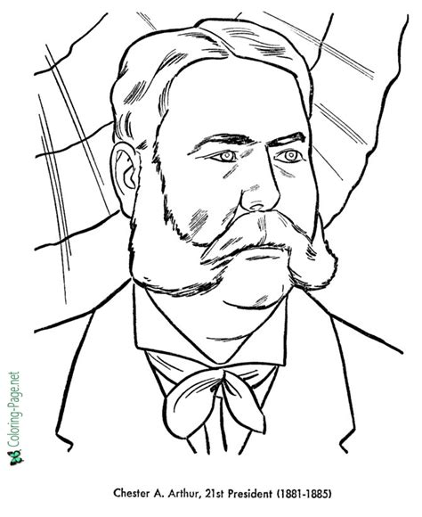 us presidents coloring pages chester arthur