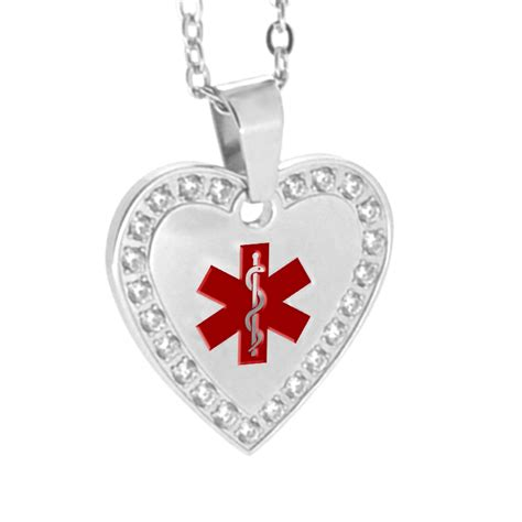 stainless steel id pendant necklace